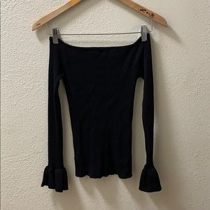 hers & mine Tops - 🎉HP🎉NWT Hers & Mine Off The Shoulder Long Sleeve